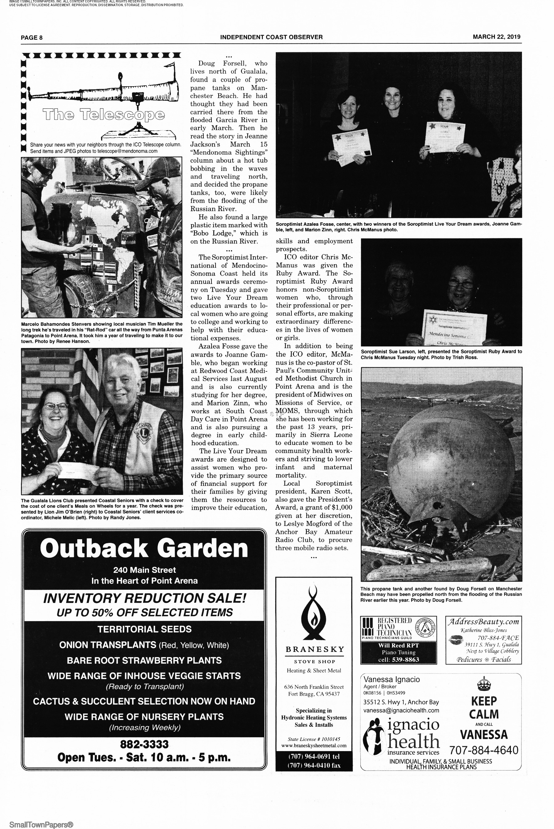 Independent Coast Observer March 22 2019 Page 8